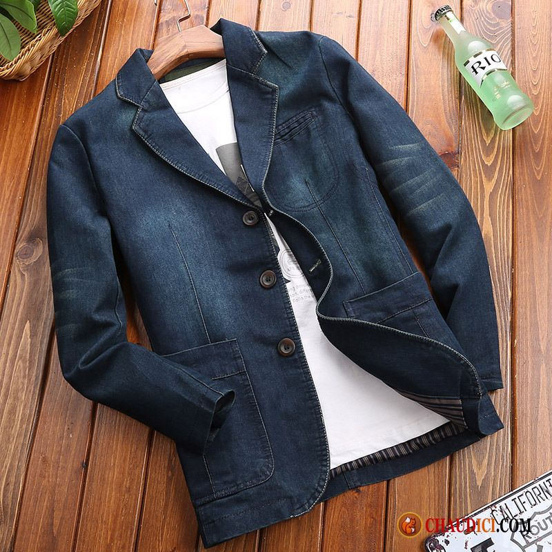 Blazer Hombre Work Moda Youth Blue Cheap Coat Cyan pVMUSz