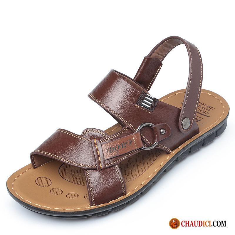 Hommes Sandales en cuir chaussures de plage bNzaDV