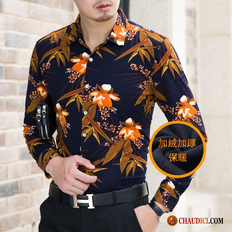 chemise homme fashion pas cher impression d contract e. Black Bedroom Furniture Sets. Home Design Ideas