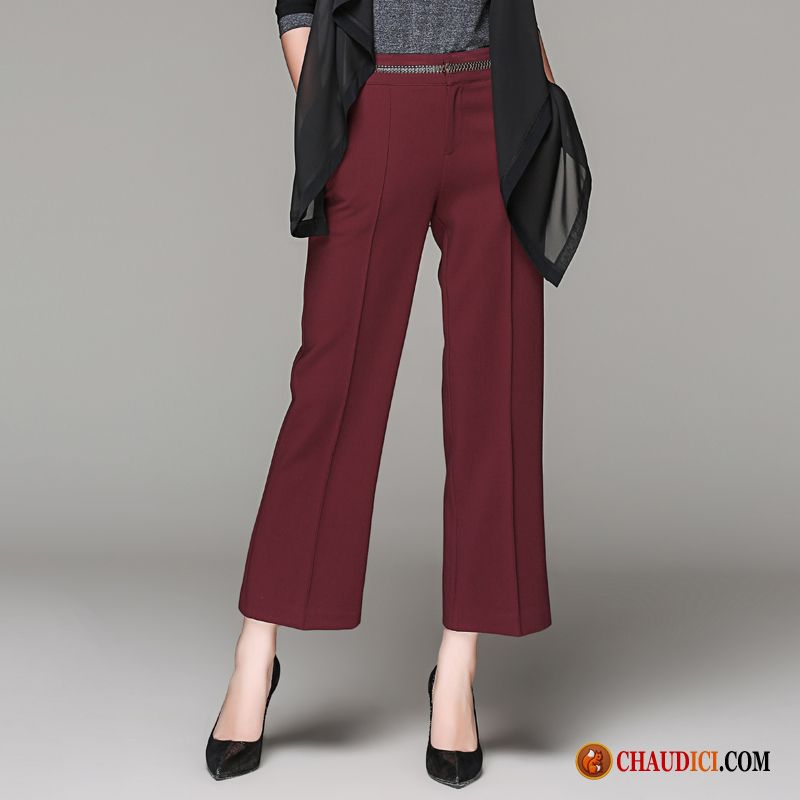Combinaison pantalon femme chic haute cintr e jambe droite femme temp rament pantalon pas cher - Pantalon coupe droite femme pas cher ...
