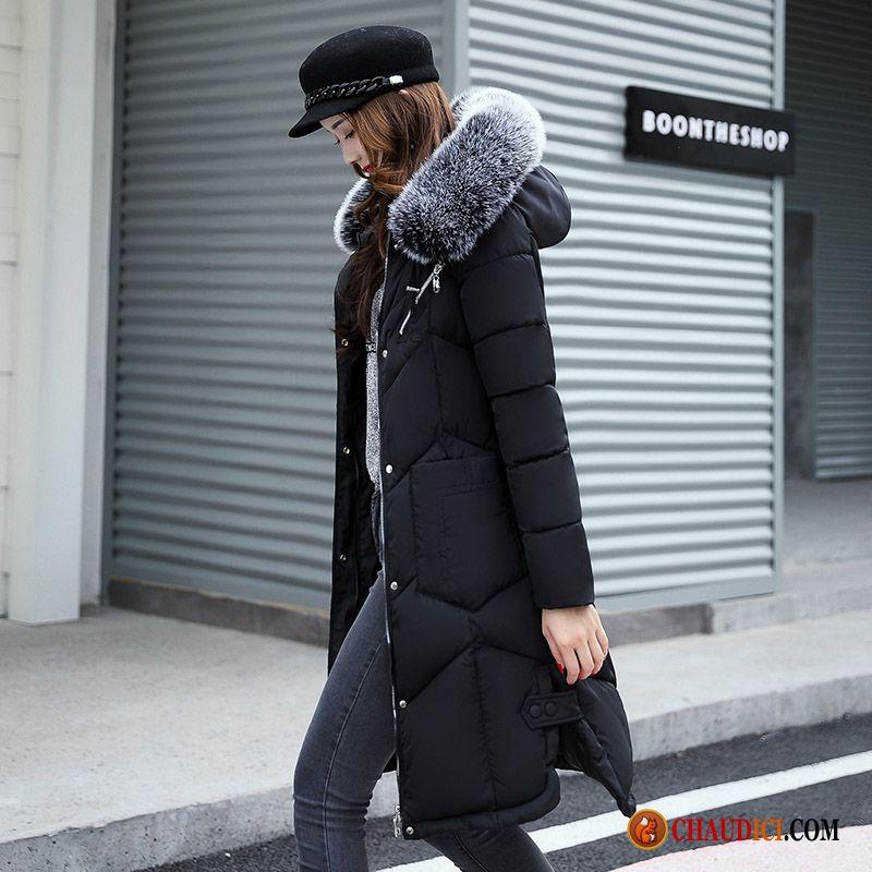 Femme Hiver Chaude Mince Chauds Bien Noir France Doudoune rhQdxtsC
