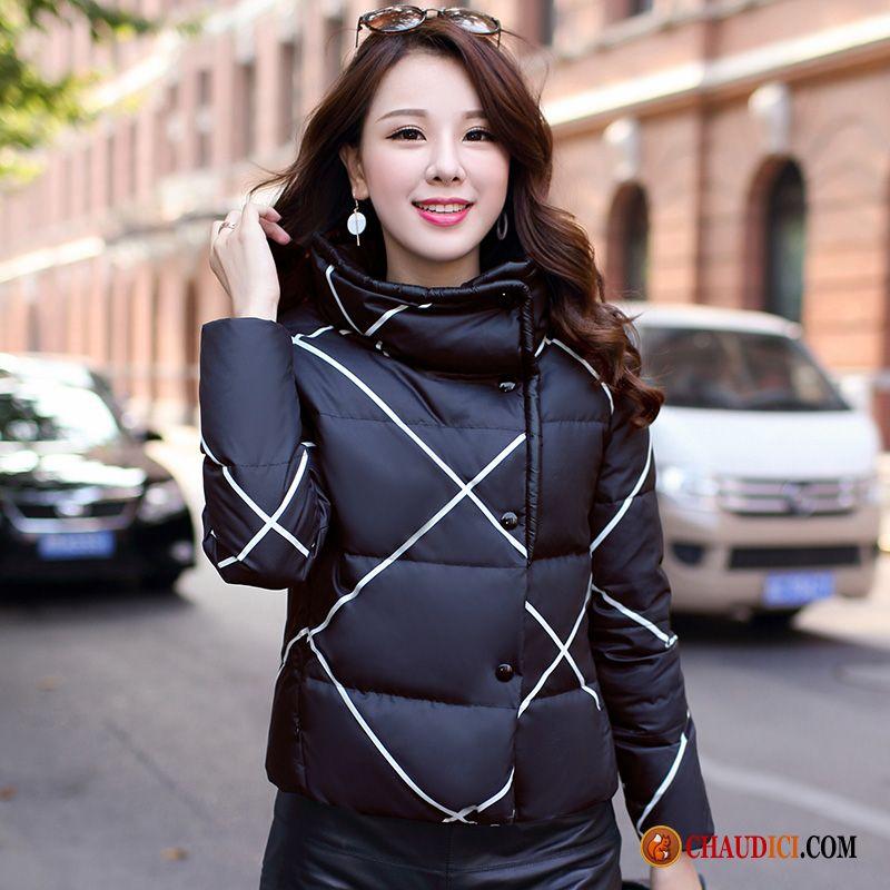 Mode Carreaux Doudoune Une Épaissir Ambre Femme Pour Legere YgSqPF