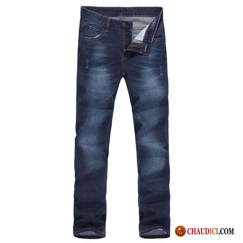 Jean bleu rouge
