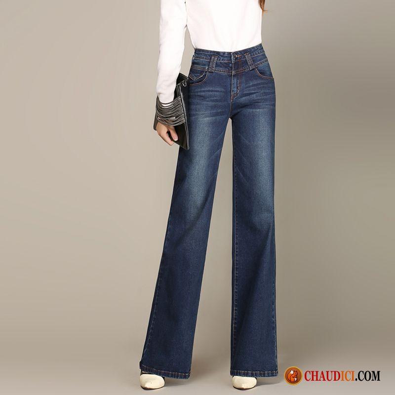 Jeans droit femme pas cher haute cintr e pantalons jeans jambe droite printemps en ligne - Pantalon coupe droite femme pas cher ...