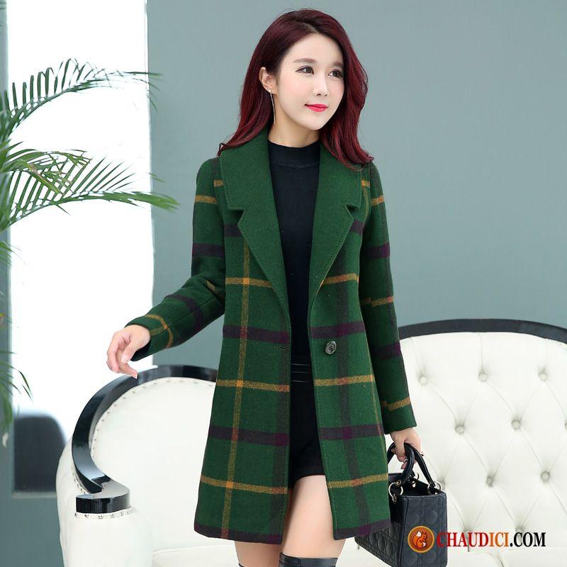 manteau chaud femme hiver palegoldenrod rac tissu de laine la laine hiver carreaux. Black Bedroom Furniture Sets. Home Design Ideas