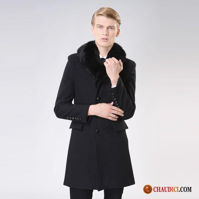 manteau pour hiver homme hiver de laine fourrure duvet la. Black Bedroom Furniture Sets. Home Design Ideas