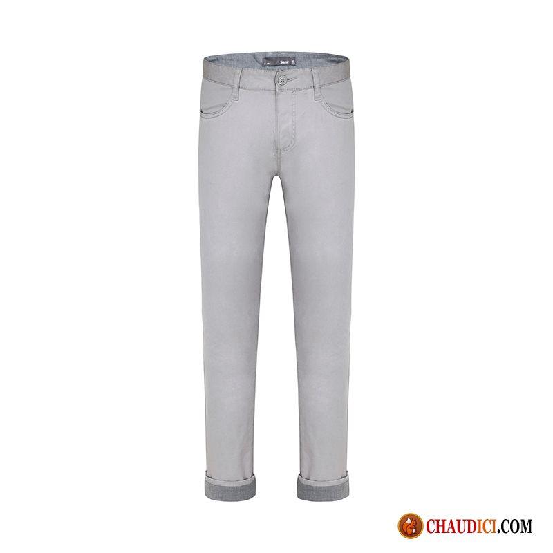 pantalon en lin blanc marron l g re slim pantalon pantalons cargo soldes. Black Bedroom Furniture Sets. Home Design Ideas