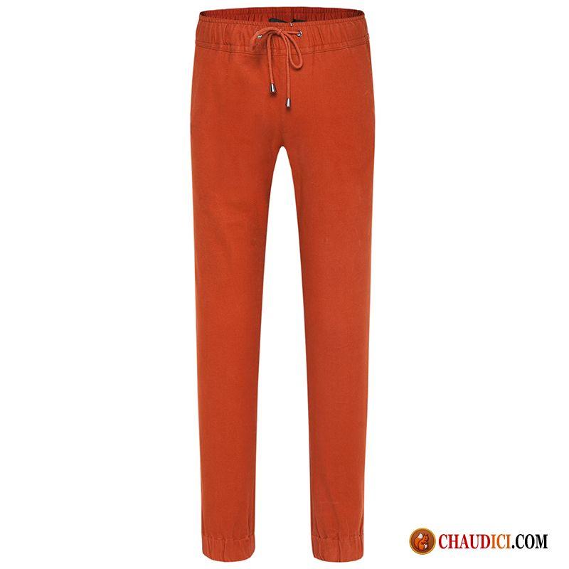 Slim Sport Pantalones ajustados hombre para Fall de lino WH2EDY9I