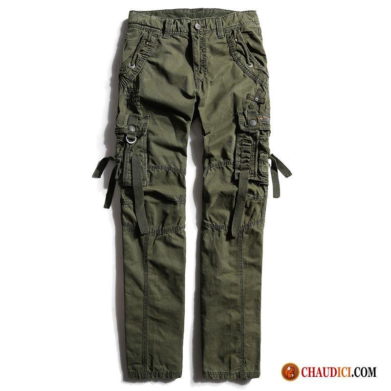 Été Pantalon poche Camouflage Homme Velours Pantalon Cargo Multi Pas Cher nUXqxg