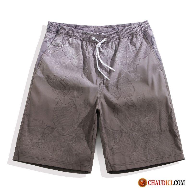 Toile Cher Pas Pantalon Shorts Pente Plage Baggy Homme Cinquième tsrdhQCx