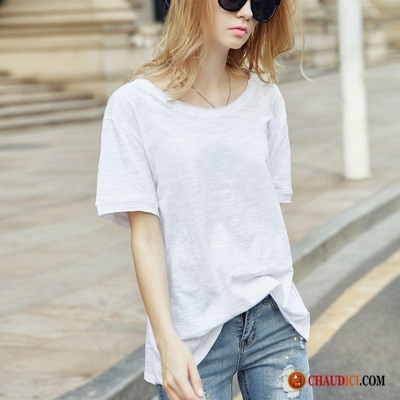 orgánico Baggy Camiseta Gran Mujer Acolchado tamaño Verano Algodón Largo OZPkiuX