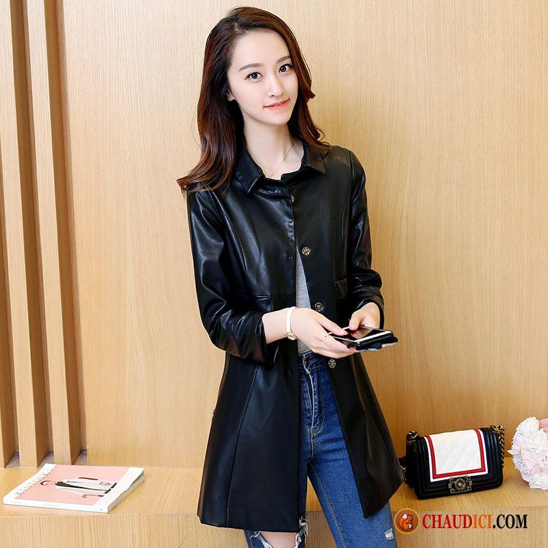 veste paletot or cuir femme longue slim une veste pas cher. Black Bedroom Furniture Sets. Home Design Ideas