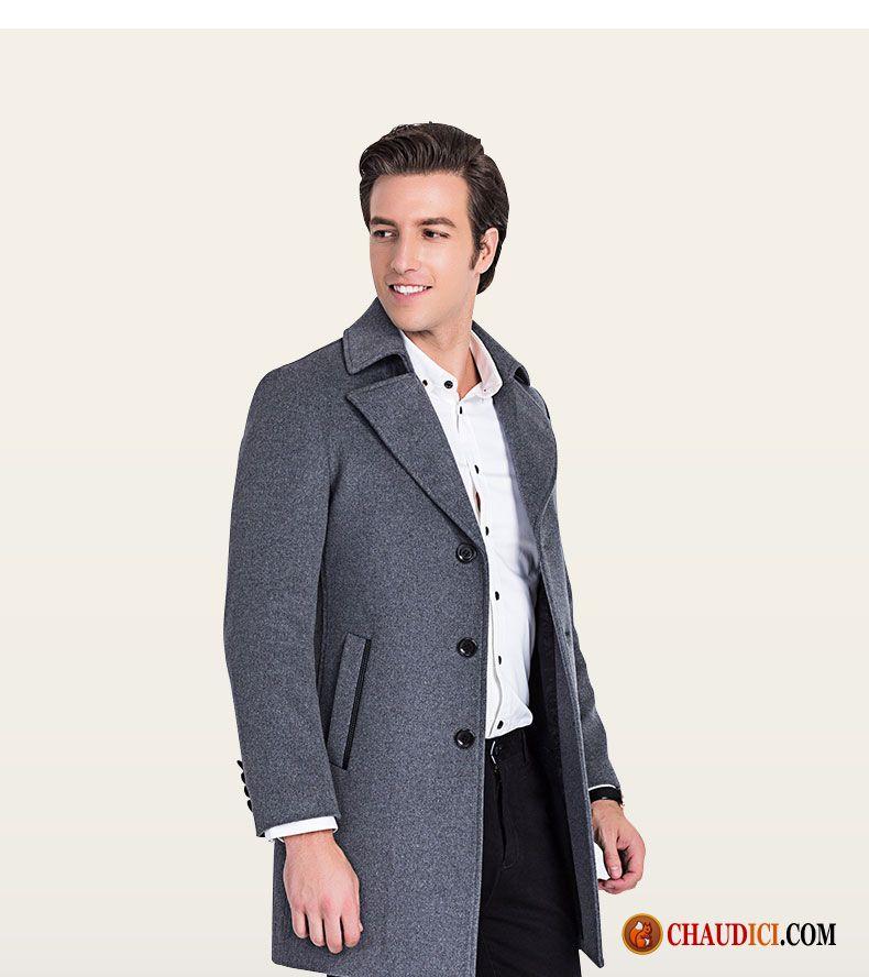 blouson cuir avec capuche homme manteau tissu de laine. Black Bedroom Furniture Sets. Home Design Ideas