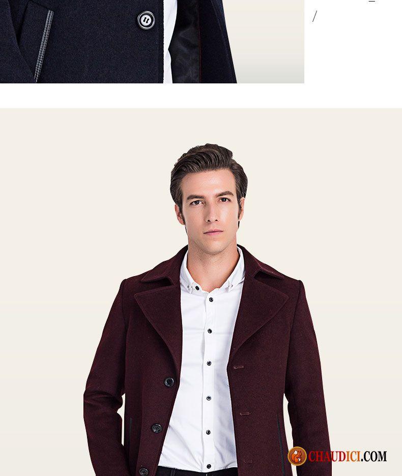 Blouson cuir avec capuche homme manteau tissu de laine hiver la laine homme pas cher for Peignoir eponge homme pas cher