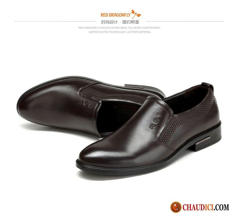 Chaussures Homme Cuir Souple De Boîtier Rouge Homme L