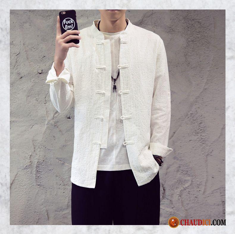 Chemise homme grande taille de marque seagreen r tro style chinois chemise l 39 automne printemps - Taille des rosiers automne ...