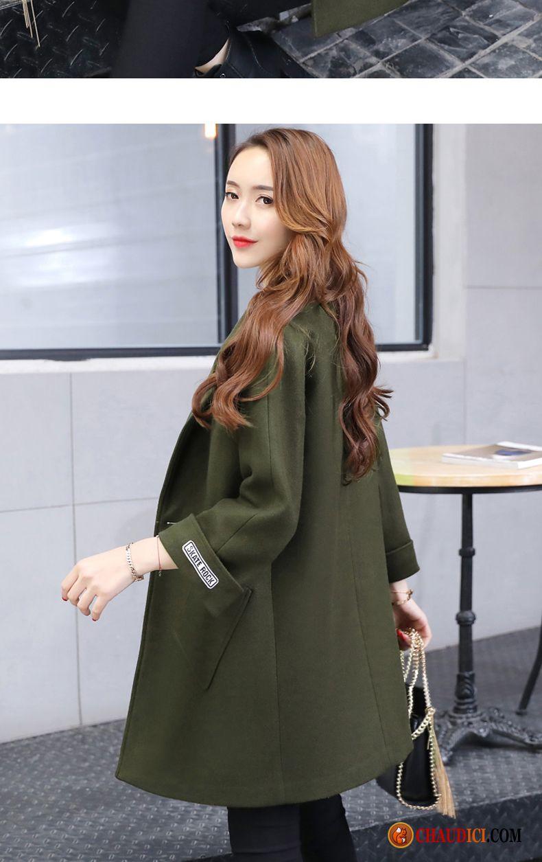 Manteau long femme hiver laine