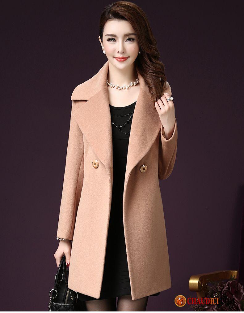 manteau long chaud femme rouge grande taille mince femme slim v tements d 39 hiver france. Black Bedroom Furniture Sets. Home Design Ideas
