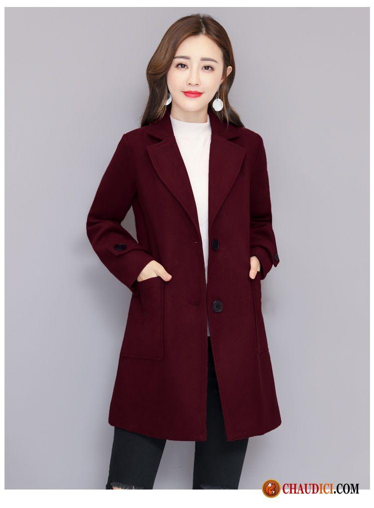 5b0b298d6f0d De Long Laine Manteau Femme Baggy Tres Pour L automne XIqwx5Zx