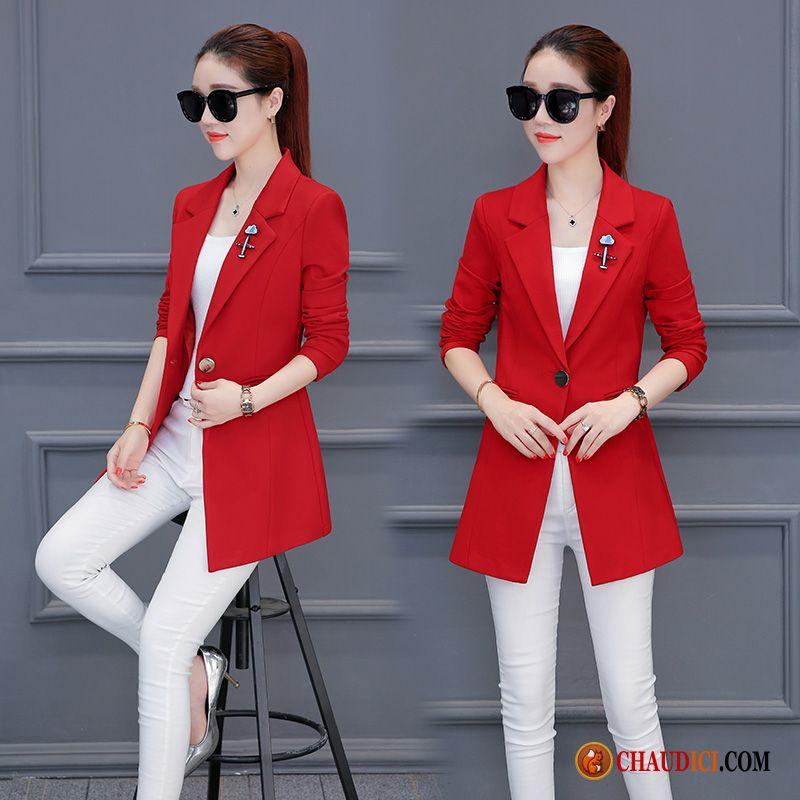 9e1a2452ce612 Acheter Blazer En Ligne Violet Mode Slim Manteau L'automne Blazer Pas Cher