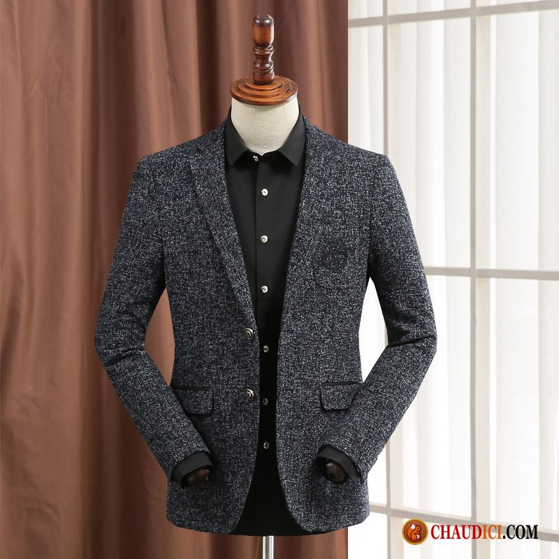 blazer homme sport chic une veste manteau de laine blazer slim. Black Bedroom Furniture Sets. Home Design Ideas