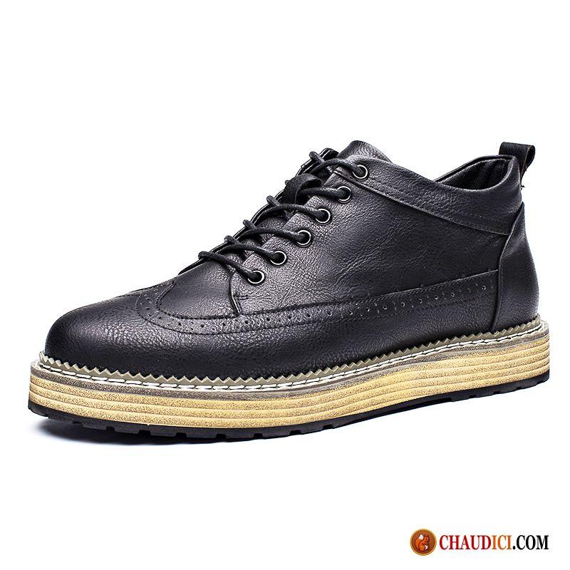 boots cuir noir homme chaussures en coton printemps bottes martin derbies chaussures de skate. Black Bedroom Furniture Sets. Home Design Ideas
