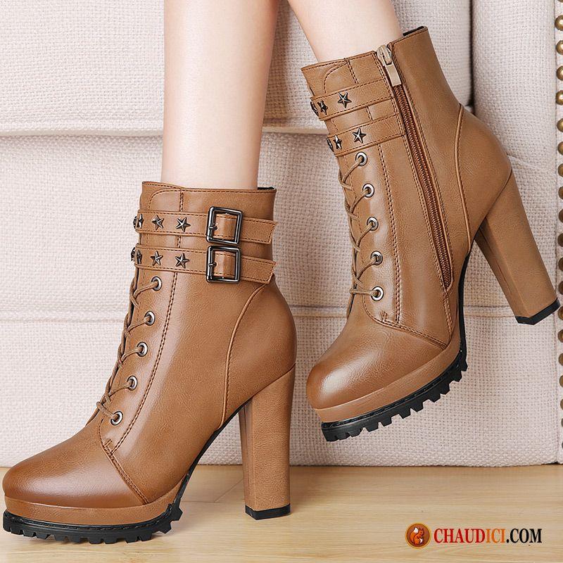 chaussure bottine talon femme pas cher
