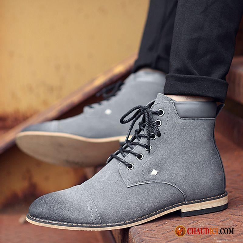 achat bottes en cuir homme pas cher