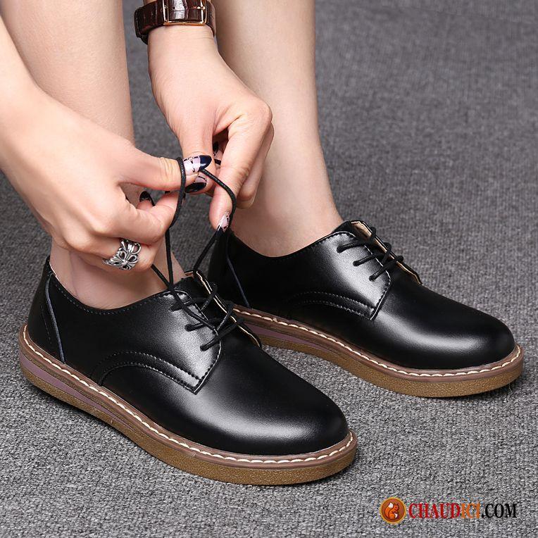 404dee5037fd3c Boutique De Chaussure Brun Printemps Angleterre Grande Taille Derbies  Tendance