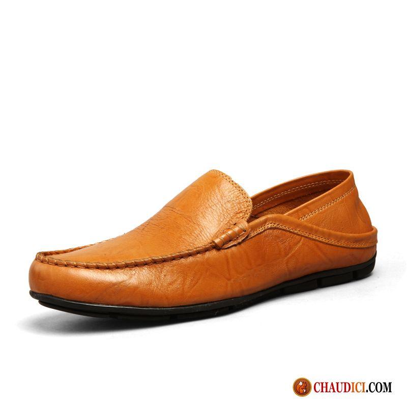 Mocassins. Chaussure Homme Tendance Été Homme Flâneurs Cuir Véritable  Décontractée Soldes 4b801887617