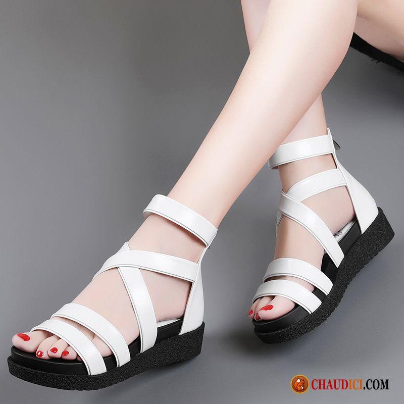 c4153905ae0 Chaussure Sandales Femme Antidérapant Tous Les Assortis Rome Plage Tendance Pas  Cher