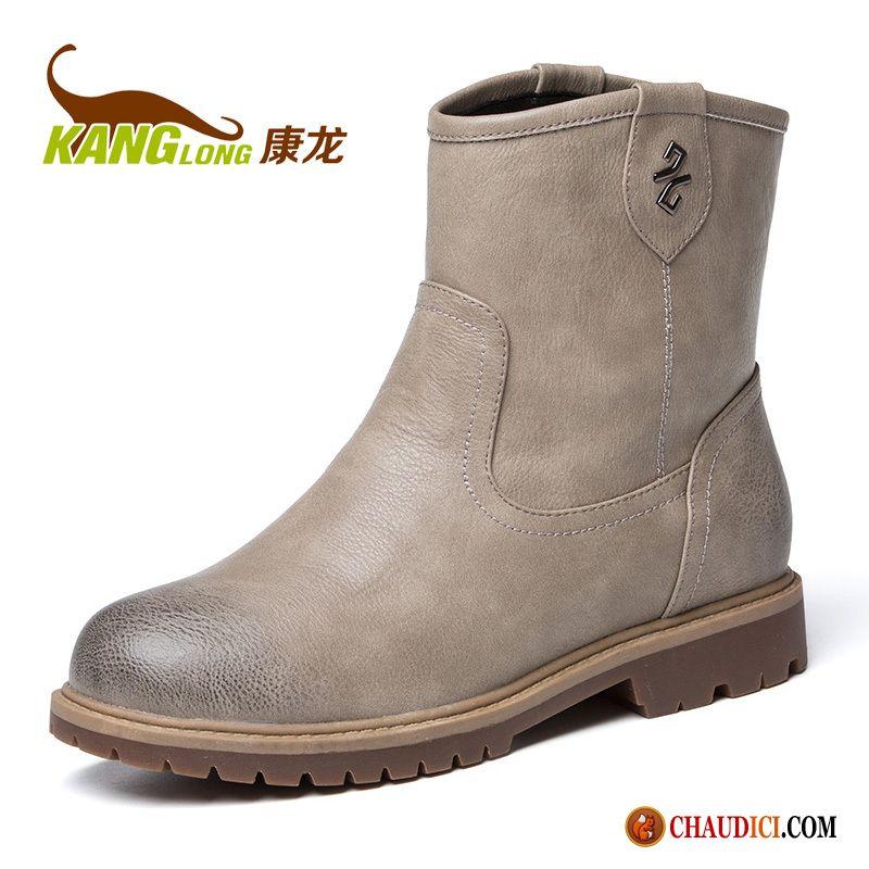 ce3af8fa026 Chaussures Femme Bottines Bottes Courtes L automne Hiver Épais Femme Pas  Cher