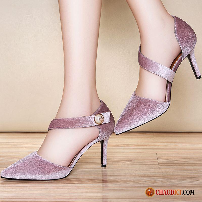 Achat Chaussures Femme Pas Cher Violet Escarpins Élégant
