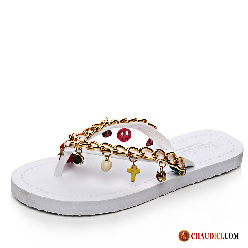 Grandes Tongs Femmes Tendance Charmant Antidérapant Flats Tongs Chaussons Pas Cher
