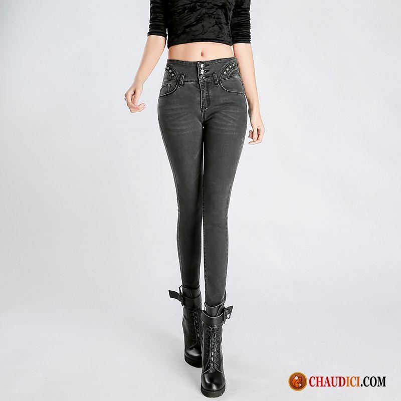 jean boyfriend noir jeans moulant femme tendance maigre. Black Bedroom Furniture Sets. Home Design Ideas