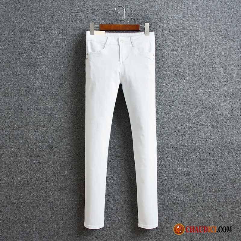 Jean Slim Blanc Bordeaux Blanc Extensible Jeans Femme Noir Pas Cher 718c933b964b