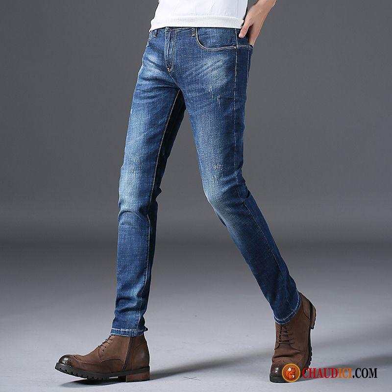 Slim Jean Décontractée Droite Jambe Homme Skinny Pantalon Extensible shCdtrQxB