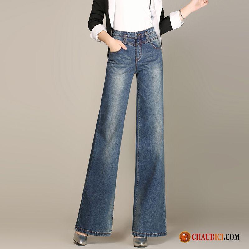 Jean Tendance Femme Pantalons Femme Gros Jambe Droite Baggy Pas Cher d67529aaec5