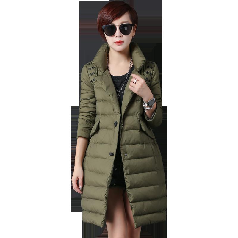 Manteau Doudoune Longue Femme Vêtements D'hiver Militaire