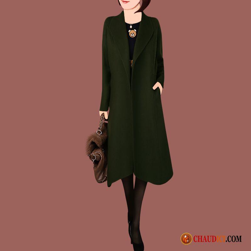 manteau long femme reversible