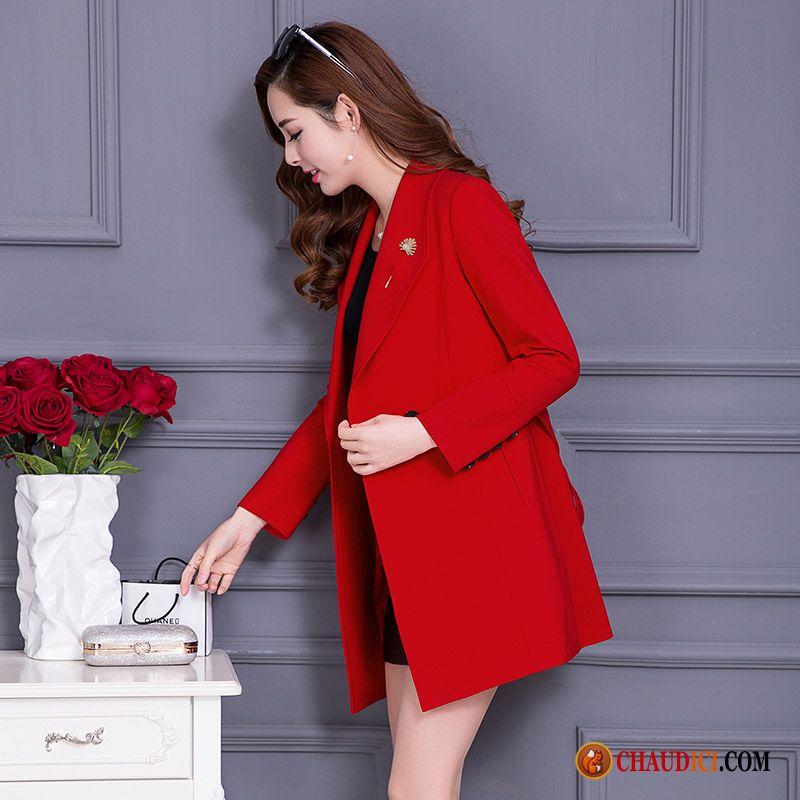 37d2408e5bd40 Manteau Long Gris Femme Neige Manteau Mince Manteau Femme Printemps Pas Cher