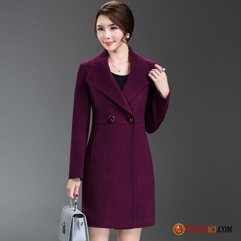 Manteau Femme Classique Slim Moyen Âge Noir Hiver zqrw1z