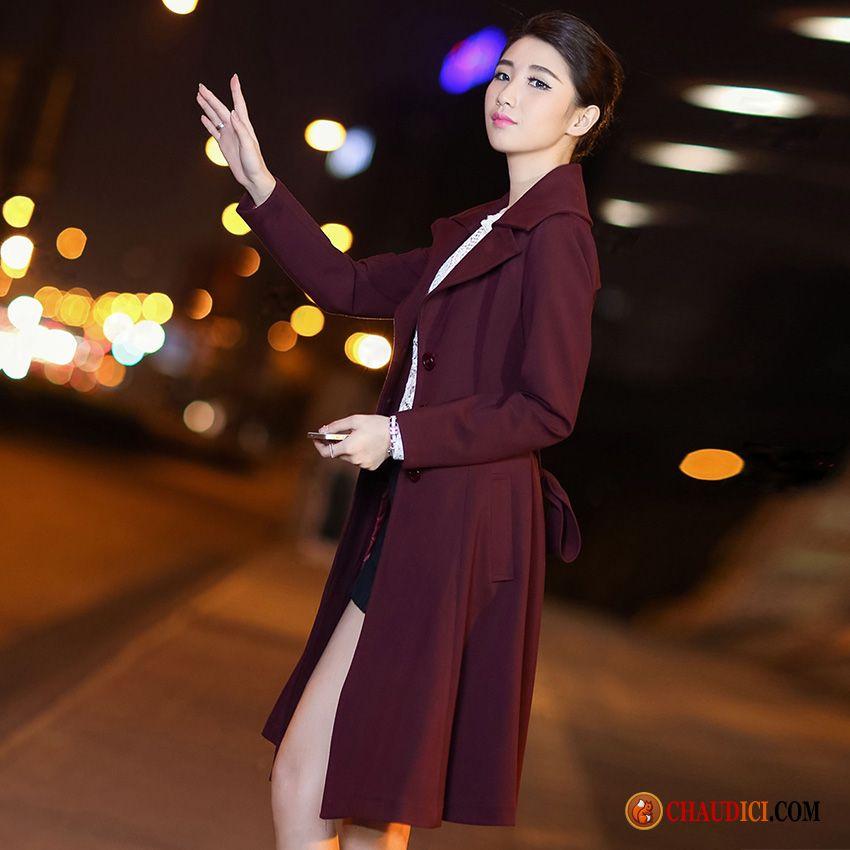 Manteau Noir Femme Hiver Grande Taille Tendance Mince Femme Coupe Vent Pas Cher