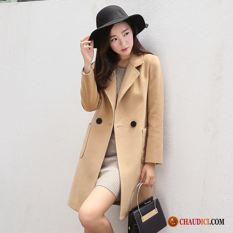 plus récent 64c25 32a40 Manteau Très Chaud Pour Femme Crème Slim Tendance Manteau ...