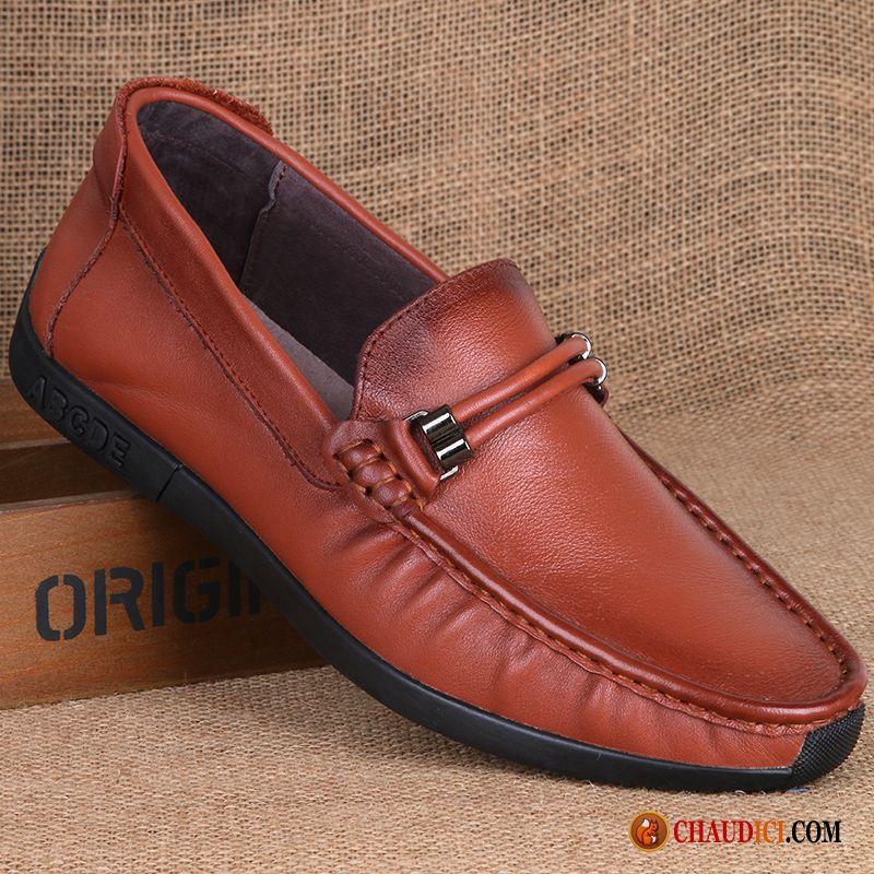 chaussure marron homme pas cher