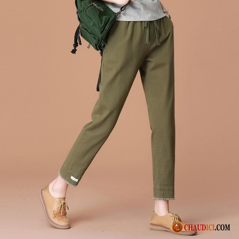 Blanc Femme Taille Haute Baggy Pantalons Harlan Tendance Art