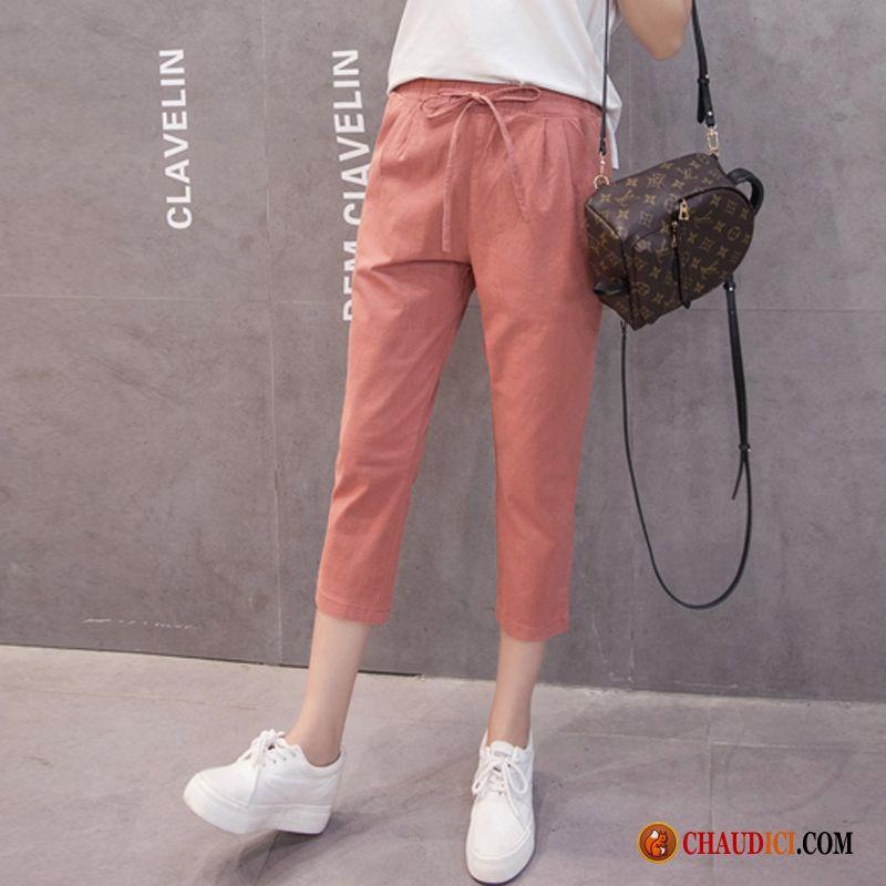 11b752a3305 Pantalon En Toile Femme Les Adolescents Printemps Pantalons Fille Été Pas  Cher