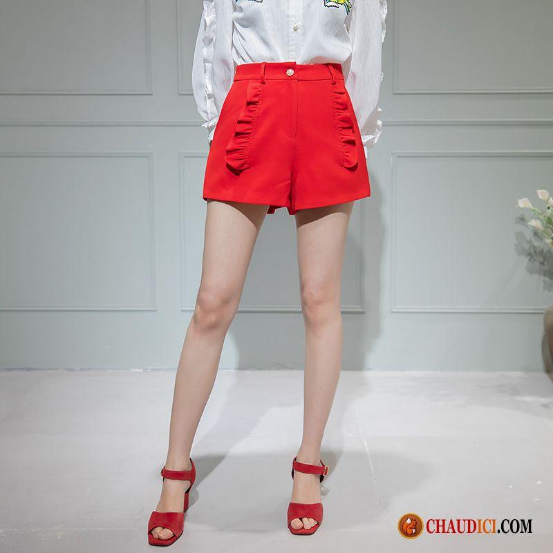 Mode Décontractée Pantalon Été Shorti Tomate Femme Original pSVqGUzM