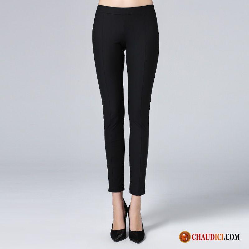 Femme Extensible Hiver Taille Pantalon Haute Large Mince Maigre 2EH9WDI