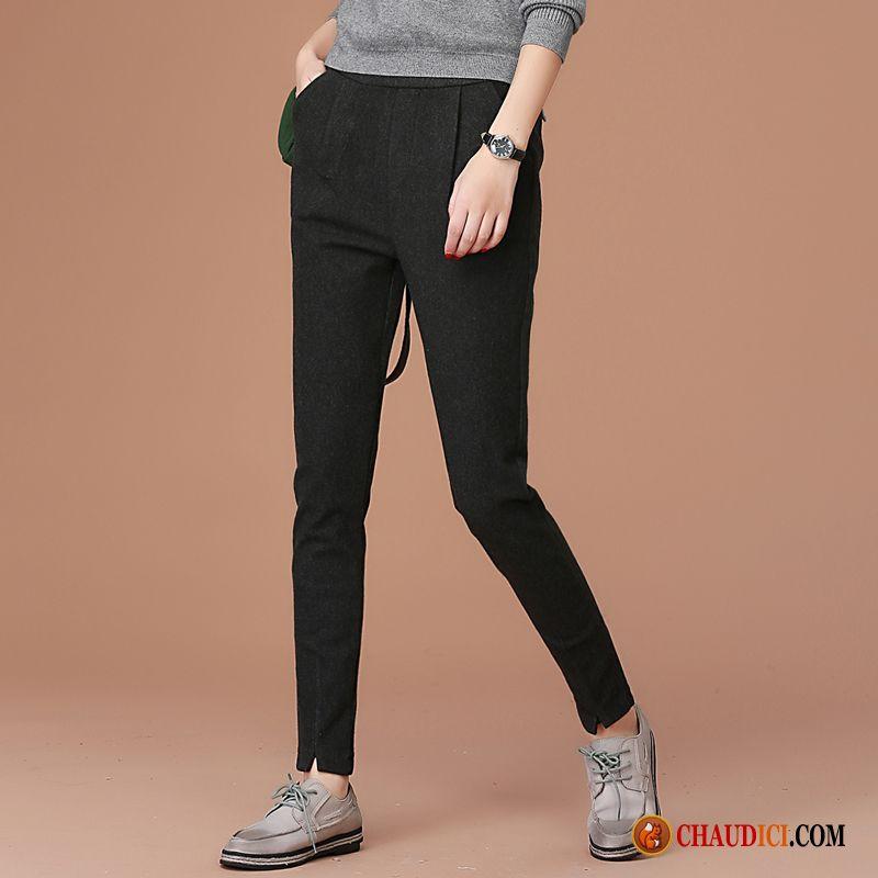 Cuir Pantalon Pantalons Simili Printemps Slim Noir Femme Pure 9DH2IEW
